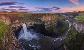 The Palouse Falls in Washington, USA Stock Photography