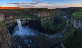 The Palouse Falls in Washington, USA Royalty Free Stock Photo