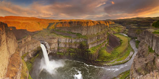 Palouse Falls in Washington, USA at sunset Stock Images
