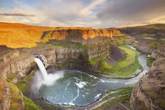 Palouse Falls in Washington, USA at sunset Royalty Free Stock Photography