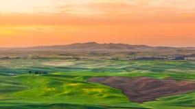 Palouse im Sonnenaufgang Lizenzfreies Stockfoto
