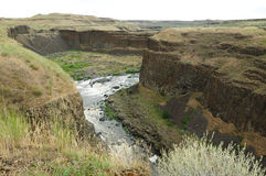 Palouse river and canyon Royalty Free Stock Photo