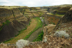 Palouse river and canyon Stock Photography