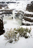 Palouse River Falls Frozen Water Wilderness Waterfall Winter Royalty Free Stock Image