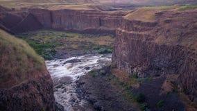 Palouse rzeka, właśnie w górę od spadków przy zmierzchem Zdjęcie Royalty Free
