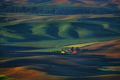 Palouse Washington van Steptoe-Butte royalty-vrije stock afbeeldingen
