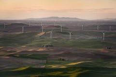 Palouse Wind Turbines Stock Photography