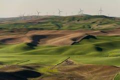 Palouse-Windkraftanlagen Stockbilder
