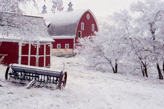 Palouse Winter Barn Stock Image