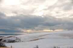 Palouse Winter Landscape royalty free stock photo