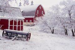 Palouse-Winter-Scheune Stockbild