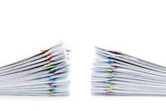 Palowa przeciążenie papierkowa robota dwa setu na białym tle Obrazy Stock