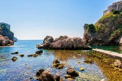 Palowa zatoka blisko Dubrovnik starego miasteczka Obraz Royalty Free