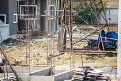 Palowy kierowca przy budową Fotografia Royalty Free