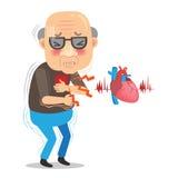 Palpitaciones de corazón stock de ilustración