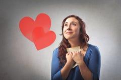 Palpitaciones del amor Foto de archivo libre de regalías