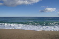 Pals Beach. In Girona. Catalonia Stock Image
