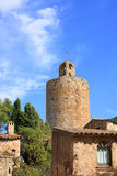 Pals (Costa Brava, Spain). The Tower of the Hours in the medieval village of Pals (Costa Brava, Spain Stock Photos