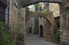 Pals. Girona. View of the medieval village of Pals. Girona. Spain Royalty Free Stock Photography