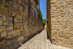Pals medieval town in Catalonia, Spain. The Pals medieval town in Catalonia, Spain royalty free stock photography