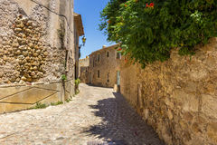 Pals medieval town in Catalonia, Spain. The Pals medieval town in Catalonia, Spain royalty free stock images