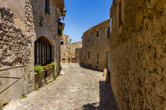 Pals medieval town in Catalonia, Spain Stock Image