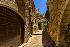 Pals medieval town in Catalonia, Spain. The Pals medieval town in Catalonia, Spain stock photo