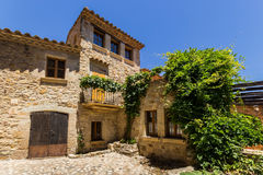 Pals medieval town in Catalonia, Spain. The Pals medieval town in Catalonia, Spain royalty free stock photo