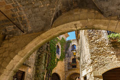 Pals medieval town in Catalonia, Spain. The Pals medieval town in Catalonia, Spain royalty free stock image