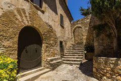 Pals medieval town in Catalonia, Spain. The Pals medieval town in Catalonia, Spain royalty free stock photos