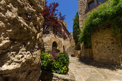 Pals medieval town in Catalonia, Spain Stock Images