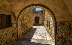 Pals medieval town in Catalonia, Spain Royalty Free Stock Images