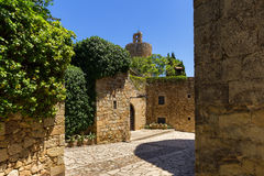 Pals medieval town in Catalonia, Spain. The Pals medieval town in Catalonia, Spain stock photos
