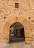 Pals medieval village entrance gate Stock Photo