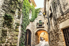 Pals. Picturesque medieval village of Pals, Costa Brava Royalty Free Stock Photos