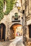 Pals. Picturesque medieval village of Pals, Costa Brava Stock Photos