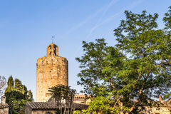 Pals. Picturesque medieval village of Pals, Costa Brava Stock Photo
