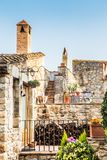 Pals. Picturesque medieval village of Pals, Costa Brava Royalty Free Stock Images