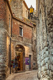 Pals Village. View of the rustic village of Pals with the old shops. Costa Brava Stock Images