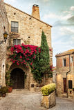 Pals Village. View of the rustic village of Pals with the old stone houses. Costa Brava Stock Image