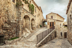 Pals Village. View of the rustic village of Pals. Costa Brava Stock Photos