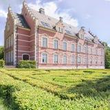 Palsjo Slott在有树篱迷宫的赫尔辛堡 免版税库存图片