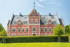 Palsjo Slott Front Facade Behind Hedge Stock Images