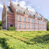 Palsjo Slott in Helsingborg With Hedge Maze Royalty Free Stock Images