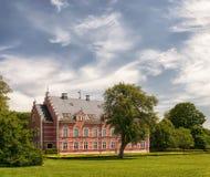 Palsjo Slott in Skane. HELSINGBORG, SWEDEN - JUNE 10: View of old Palsjo Castle on June 10, 2014 in Helsingborg. Palsjo castle was constructed in the late 1670's Royalty Free Stock Image