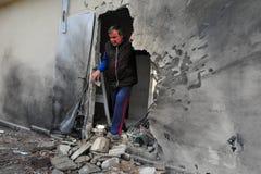 Palästinensische Raketenangriffe auf Israel Stockbild