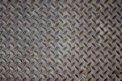 Palte del suelo de acero de Grunge Imagenes de archivo