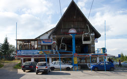 Paltinis - Ski Station. Ski station - landscape with ski lift, Paltinis, Romania Royalty Free Stock Photography