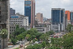 Palton mour dhaka bangladesh.busey point of city. There are screatryate,bangladesh songbad songshtha,and othere office near the jatiomasjid Stock Photo