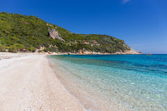 Paltsi beach in Pelio, Thessaly, Greece Royalty Free Stock Photography